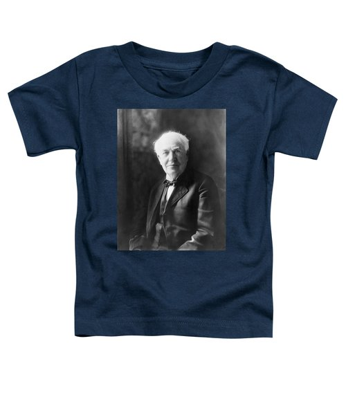 Portrait Of Thomas Edison Toddler T-Shirt