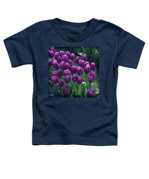 Purple Tulips Toddler T-Shirt