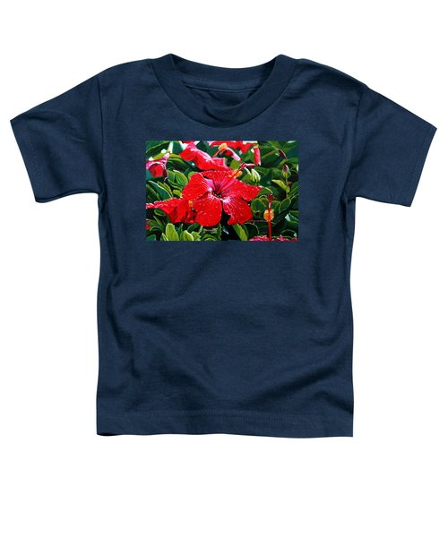 Red Hibiscus Toddler T-Shirt