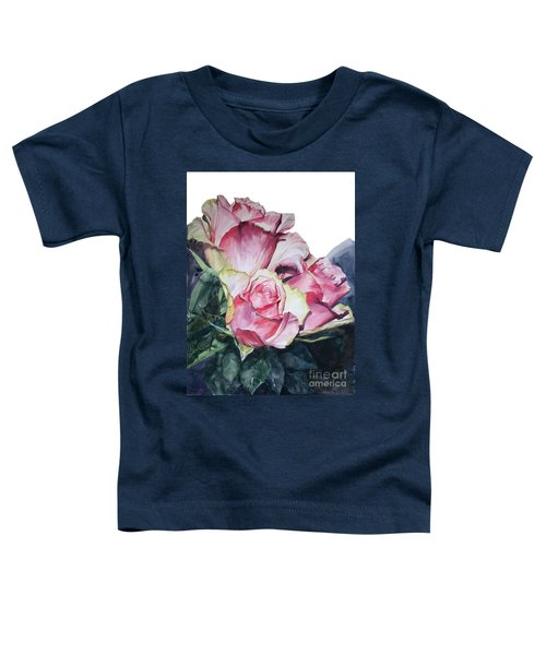 Watercolor Of A Bouquet Of Pink Roses I Call Rose Michelangelo Toddler T-Shirt
