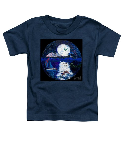Sailing In The Moonlight Toddler T-Shirt