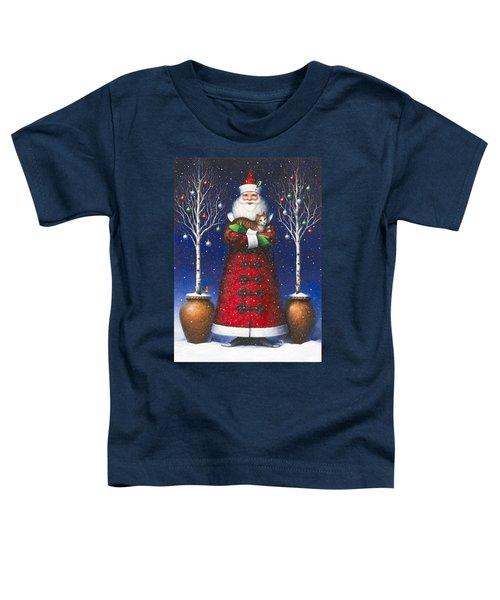 Santa's Cat Toddler T-Shirt