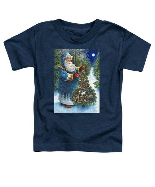 Santa's Christmas Tree Toddler T-Shirt