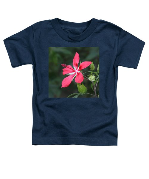Scarlet Hibiscus #3 Toddler T-Shirt