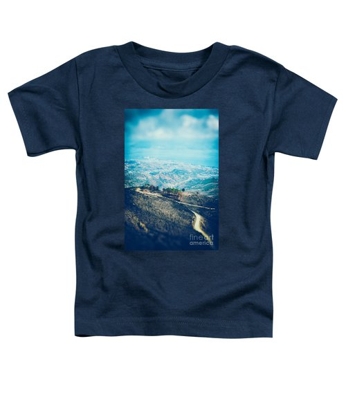 Toddler T-Shirt featuring the photograph Sicilian Land After Fire by Silvia Ganora