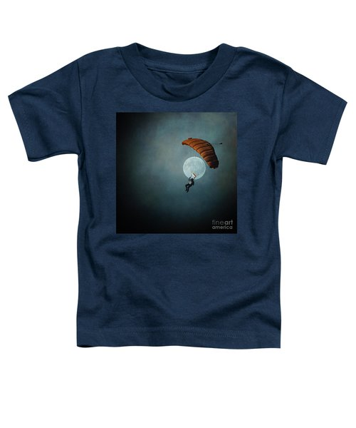 Skydiver's Moon Toddler T-Shirt
