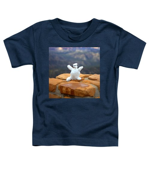 Snowman At Bryce - Square Toddler T-Shirt