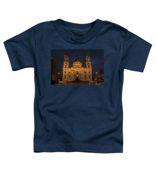 St Stephen's Basilica Budapest Night Toddler T-Shirt