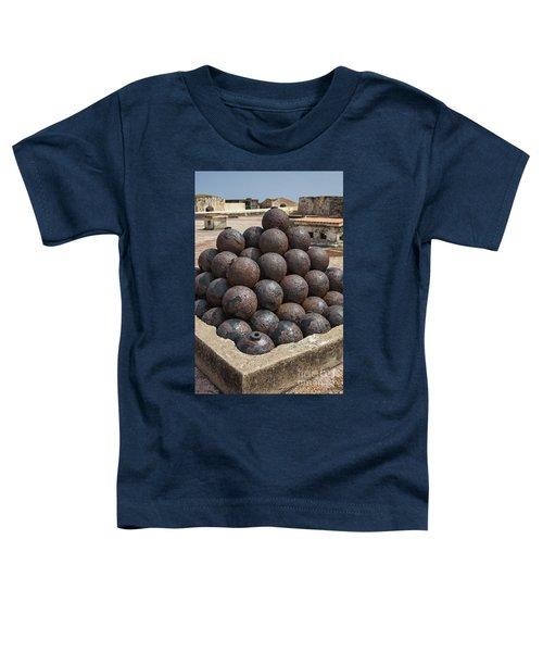 Stack Of Cannon Balls At Castillo San Felipe Del Morro Toddler T-Shirt