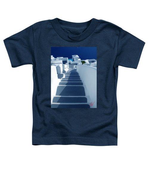 Stairs Down To Ocean Santorini Toddler T-Shirt
