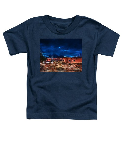 Storm Over Taos Lx - Homage Okeeffe Toddler T-Shirt