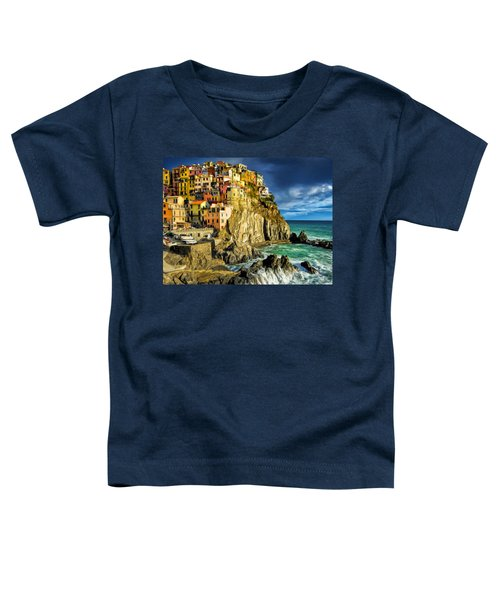 Stormy Day In Manarola - Cinque Terre Toddler T-Shirt