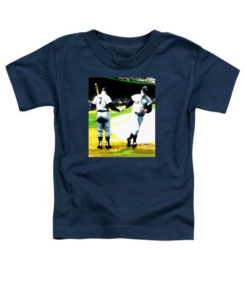 Summer Of The Gods  Iv 1961 Mickey Mantle Toddler T-Shirt by Iconic Images Art Gallery David Pucciarelli