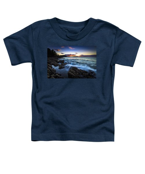 Sunset On Ber Beach Galicia Spain Toddler T-Shirt