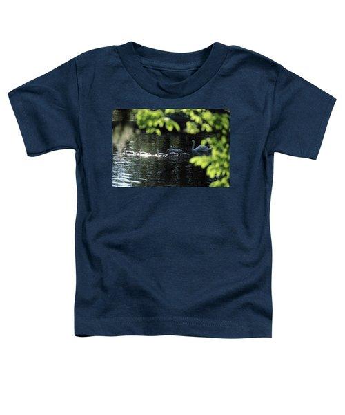 Swan Family In A Lake, Middleton Place Toddler T-Shirt