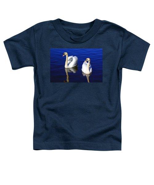 Swans On The Lake Toddler T-Shirt