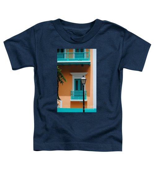 Teal With Pale Orange Toddler T-Shirt