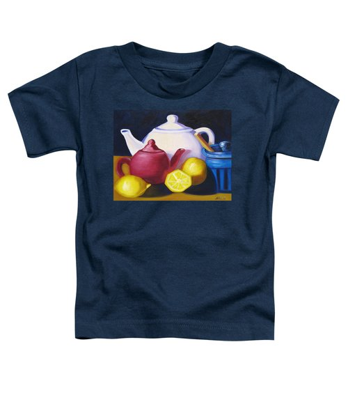 Teapots In Primary Colors Toddler T-Shirt