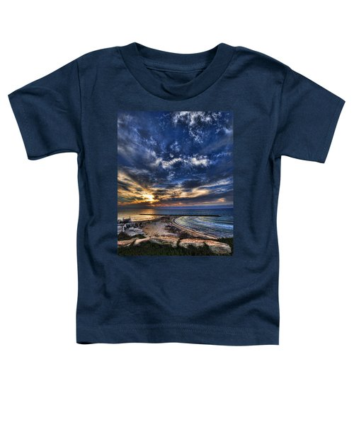 Tel Aviv Sunset At Hilton Beach Toddler T-Shirt