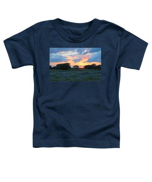 Texas Wildflower Sunset  Toddler T-Shirt