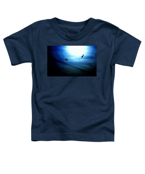 Toddler T-Shirt featuring the photograph The Flight by Miroslava Jurcik
