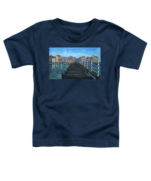 The Old Queen Emma Bridge In Curacao Toddler T-Shirt