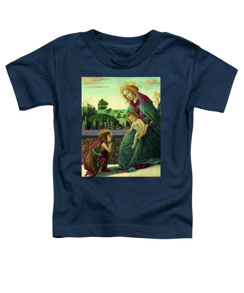 The Rockefeller Madonna. Madonna And Child With Young Saint John The Baptist Toddler T-Shirt