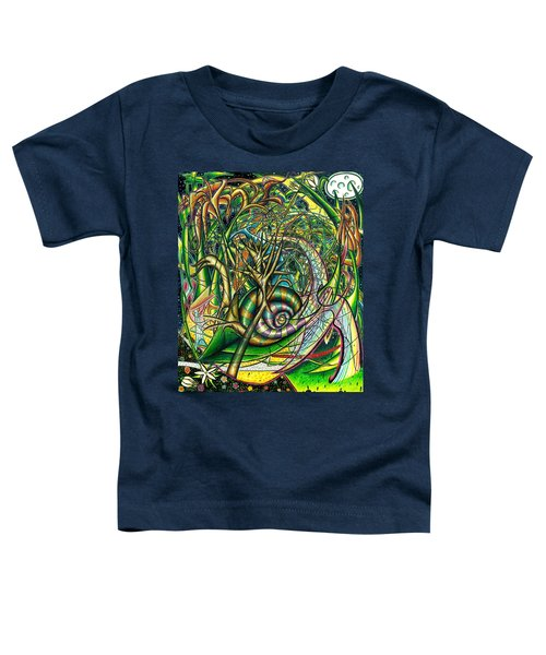 Toddler T-Shirt featuring the painting The Snail by Shawn Dall