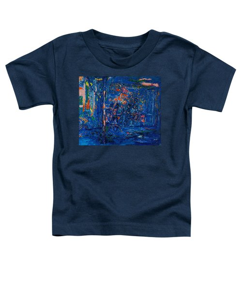 The Street Cafe Oil On Canvas Toddler T-Shirt