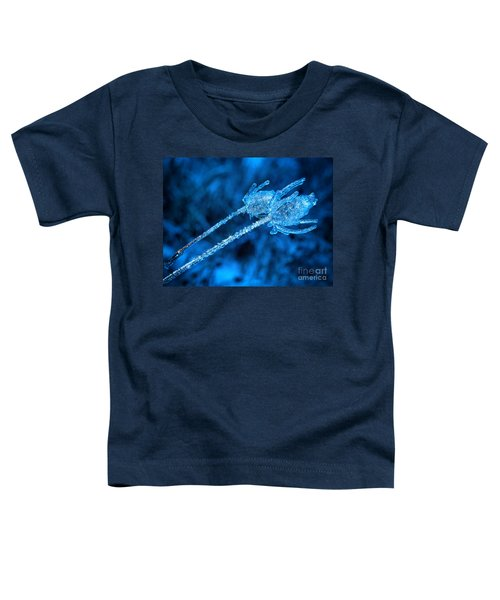 Thistle Plant On Icy Night Toddler T-Shirt