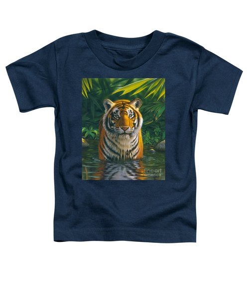 Tiger Pool Toddler T-Shirt