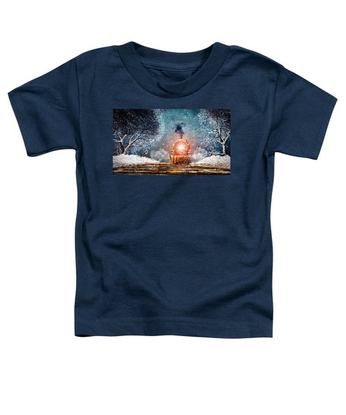 Traveling On Winters Night Toddler T-Shirt
