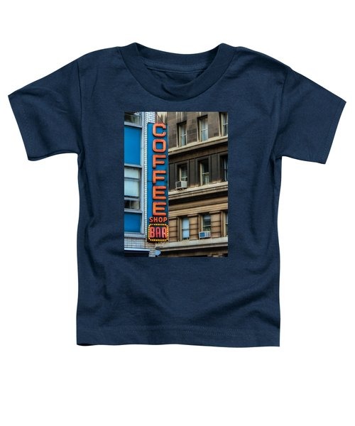 Union Square Coffee Shop Sign Toddler T-Shirt