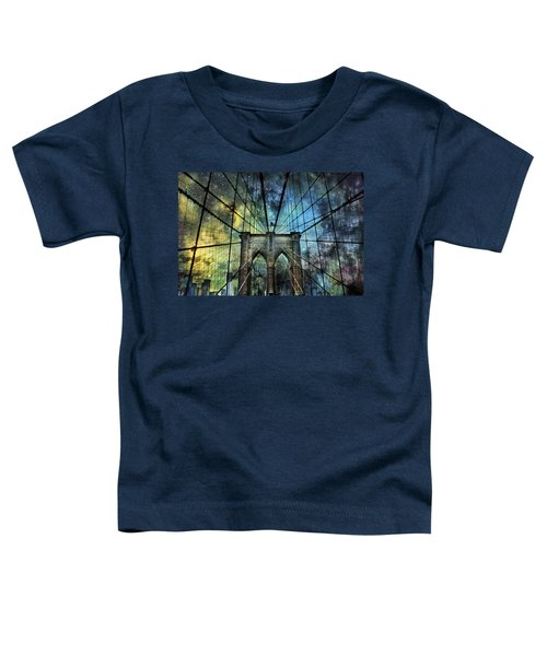 Universe And The Brooklyn Bridge Toddler T-Shirt