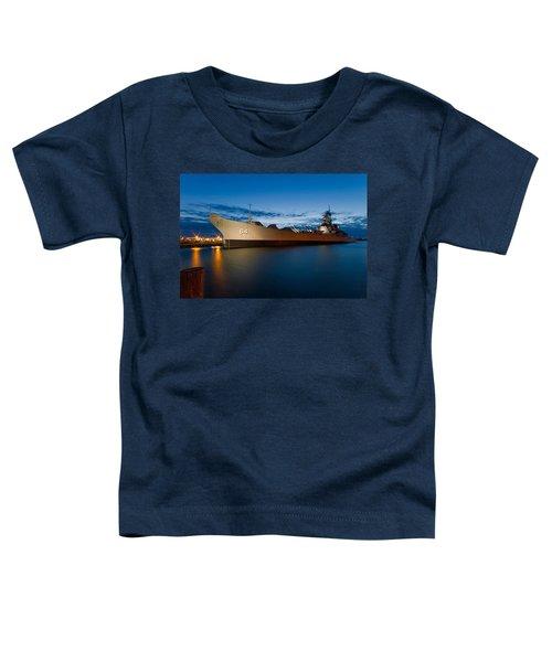 Uss Wisconsin At Sunset Toddler T-Shirt
