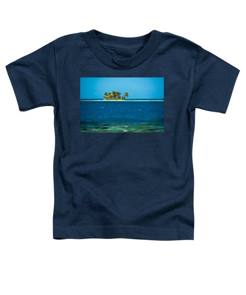 View Of Silk Caye Island With Palm Toddler T-Shirt