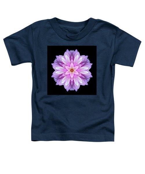 Violet Dahlia I Flower Mandala Toddler T-Shirt