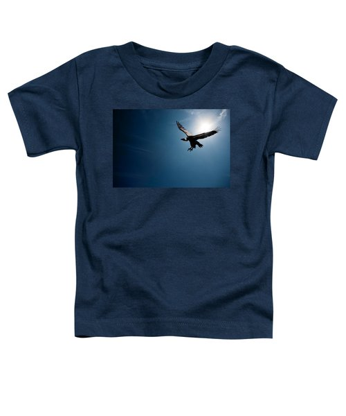 Vulture Flying In Front Of The Sun Toddler T-Shirt by Johan Swanepoel
