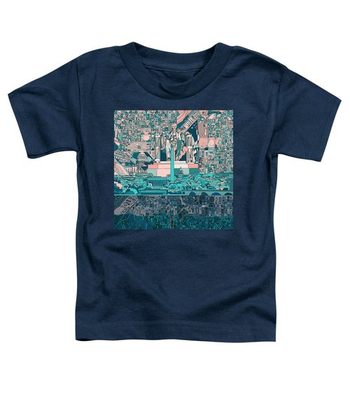Washington Dc Skyline Abstract 5 Toddler T-Shirt