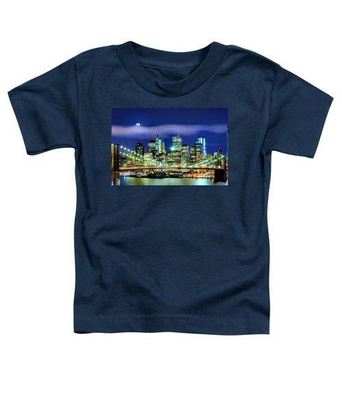 Watching Over New York Toddler T-Shirt by Az Jackson