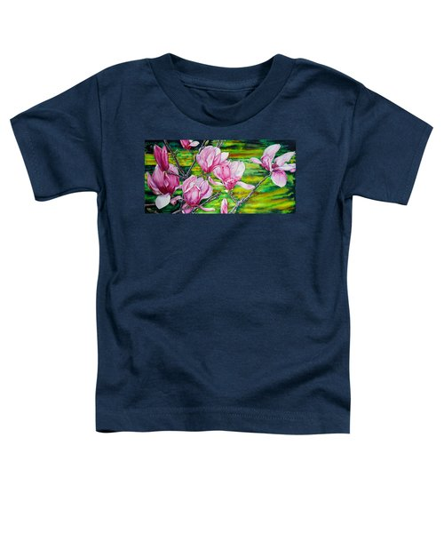 Watercolor Exercise Magnolias Toddler T-Shirt