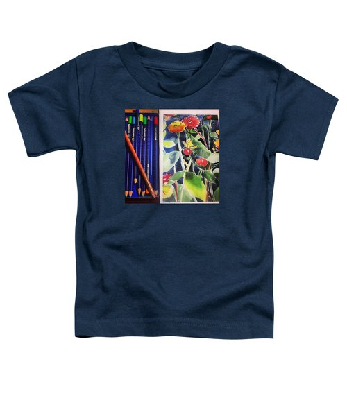 Watercolor Greetings Cards.... Pintando Toddler T-Shirt