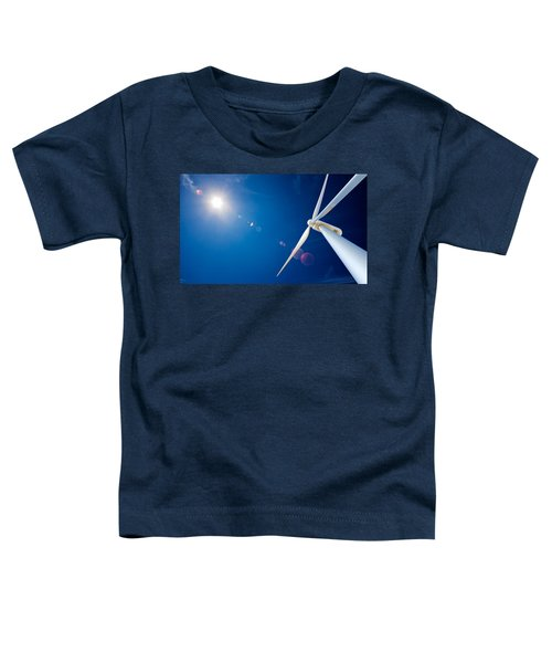 Wind Turbine And Sun  Toddler T-Shirt