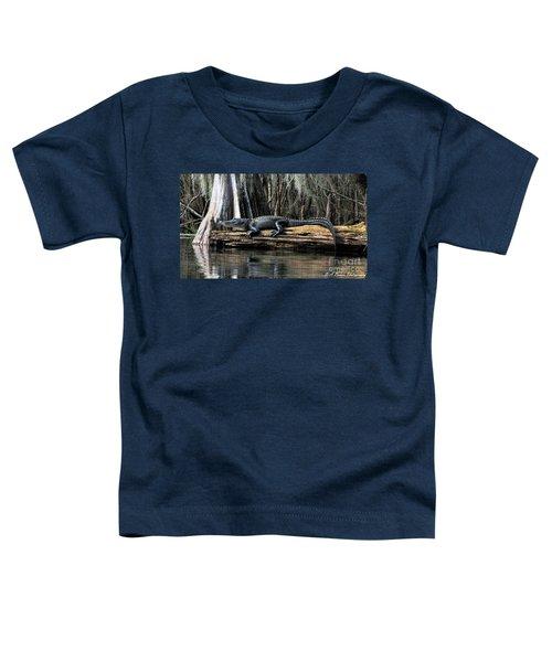 Alligator Sunning Toddler T-Shirt