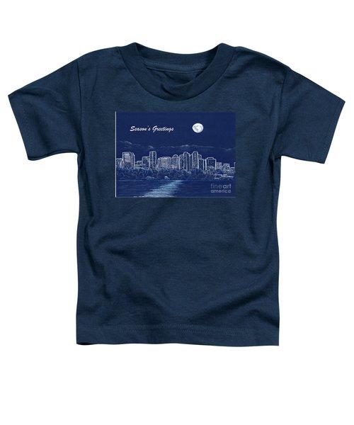 Bellevue Skyline Holiday Card Toddler T-Shirt