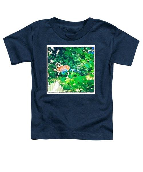 Deer In Our Backyard Toddler T-Shirt