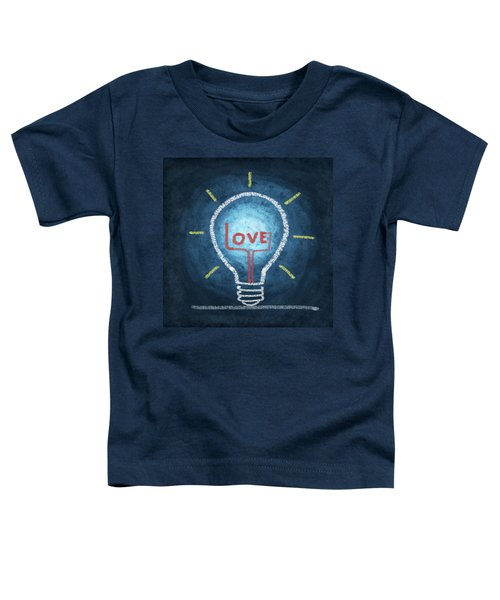 Love Word In Light Bulb Toddler T-Shirt