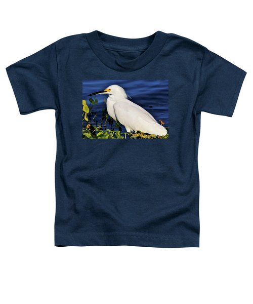 Profile Of A Snowy Egret Toddler T-Shirt