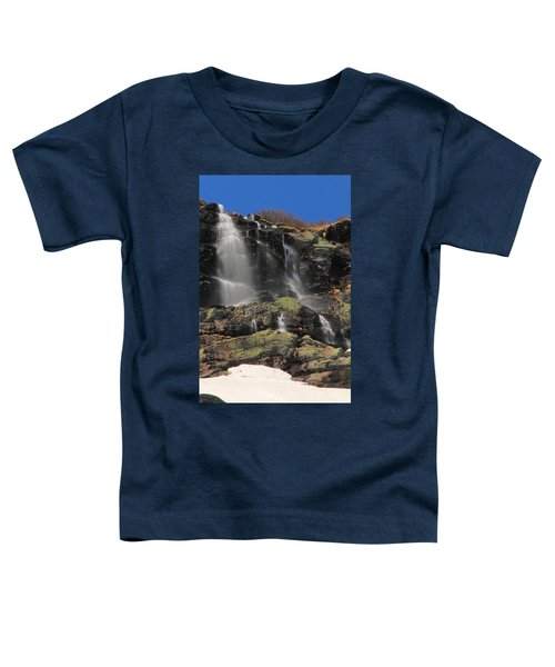 Snowmelt Waterfalls In Tuckermans Ravine Toddler T-Shirt