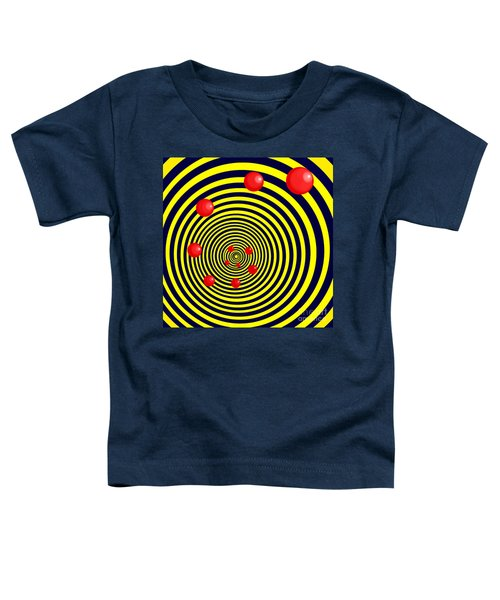 Summer Red Balls With Yellow Spiral Toddler T-Shirt